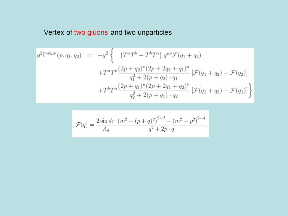 Vertex of two gluons and two unparticles