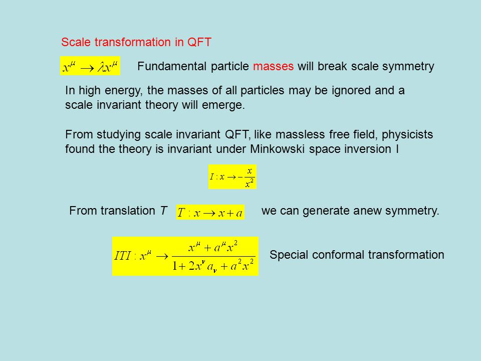 under scale transformation Isometry in AdS 5