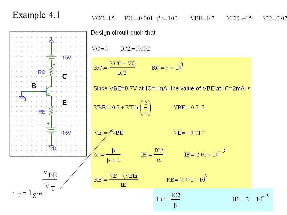 Example 4.1 E B C
