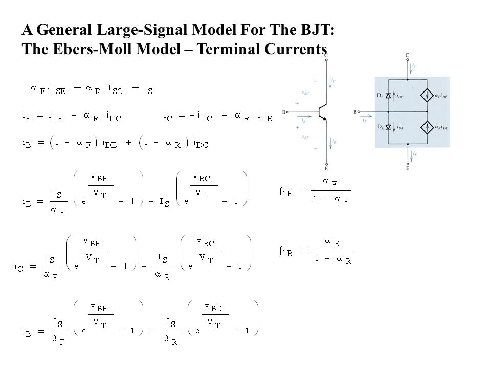 A General Large-Signal Model For The BJT: The Ebers-Moll Model – Terminal Currents