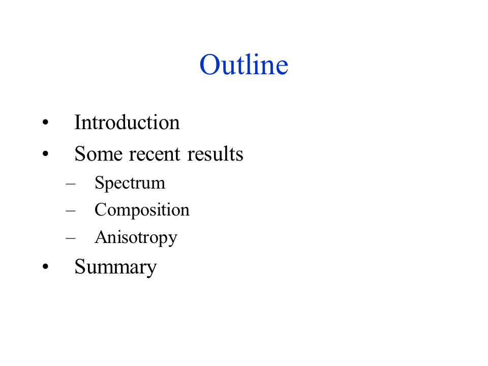 Composition Summary The most direct indicator of composition is.