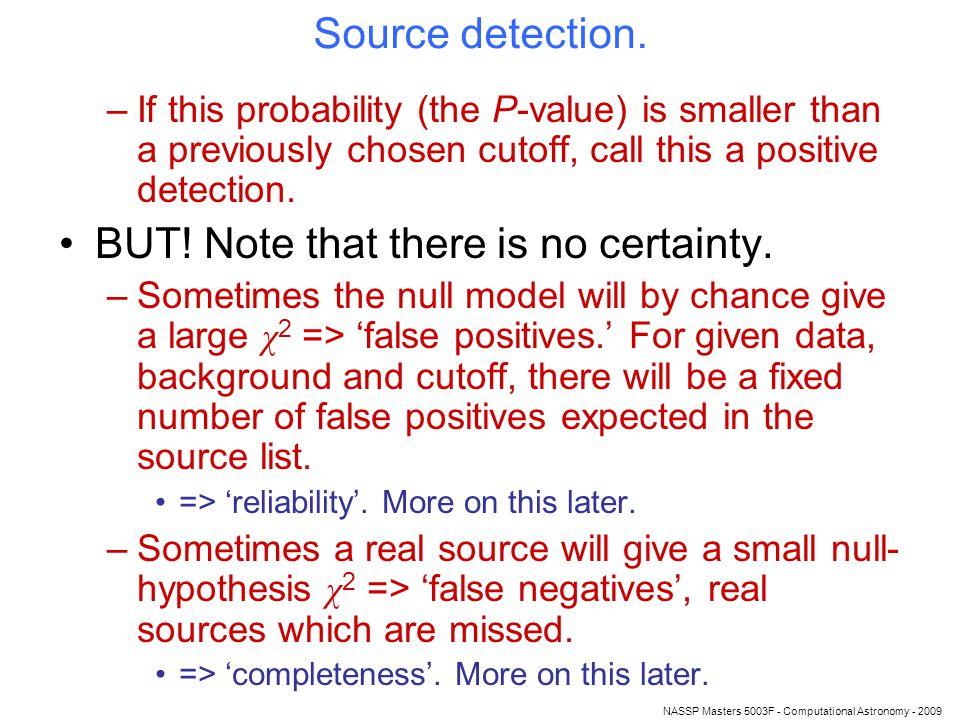 NASSP Masters 5003F - Computational Astronomy - 2009 Source detection.