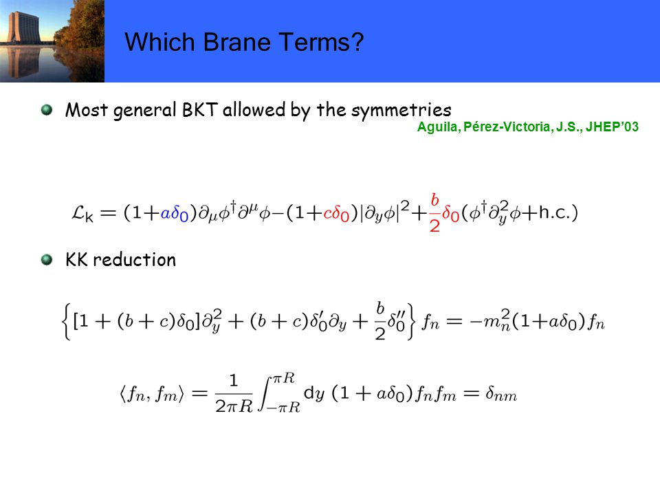 Which Brane Terms.