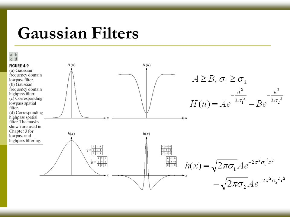 Gaussian Filters