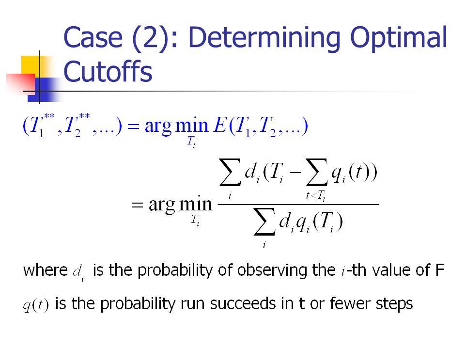 Case (2): Determining Optimal Cutoffs