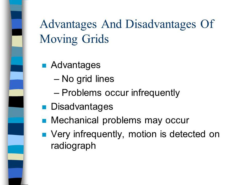 Advantages And Disadvantages Of Moving Grids n Advantages –No grid lines –Problems occur infrequently n Disadvantages n Mechanical problems may occur