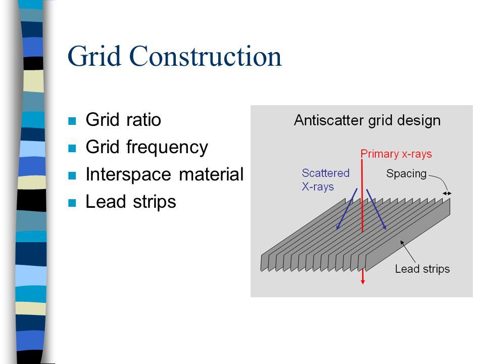Grid Construction n Grid ratio n Grid frequency n Interspace material n Lead strips