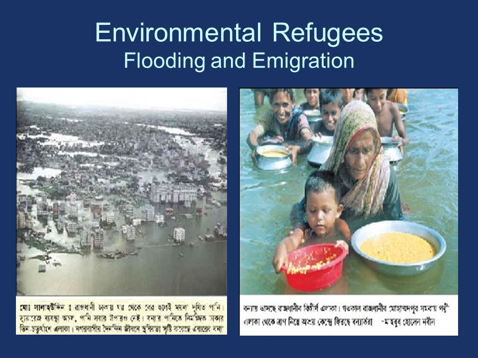 Environmental Refugees Flooding and Emigration