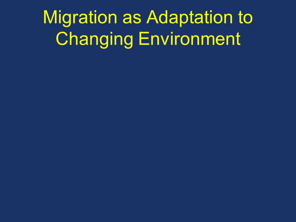 Migration as Adaptation to Changing Environment