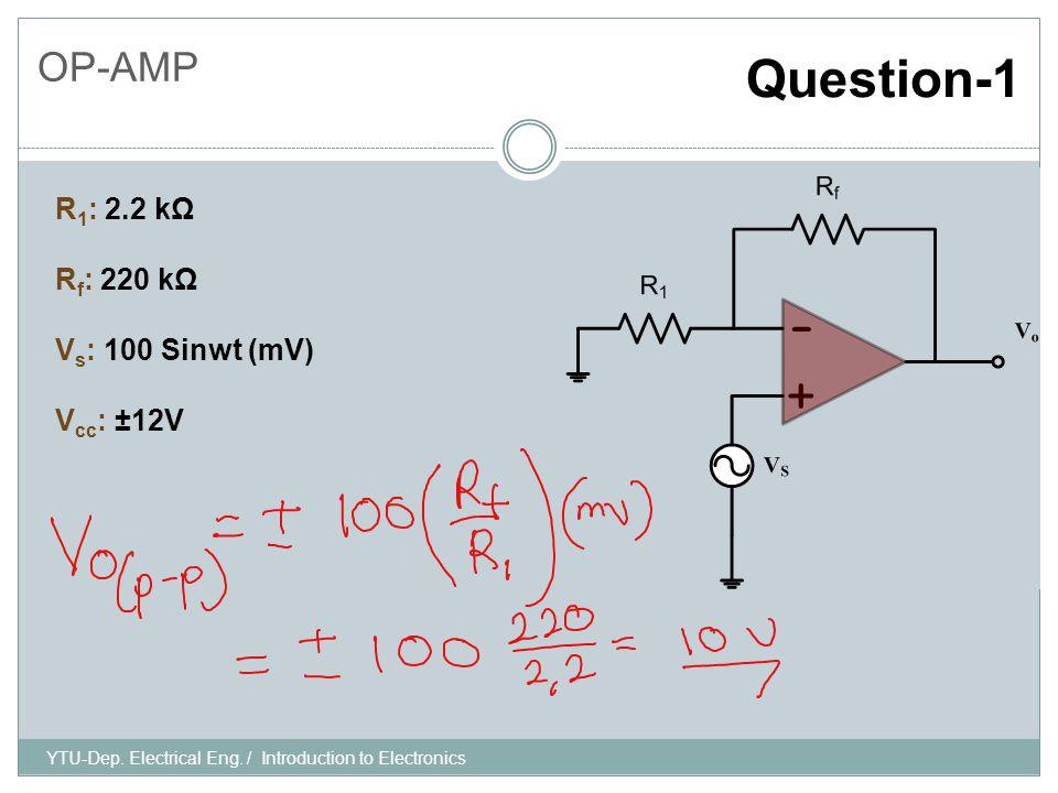 YTU-Dep. Electrical Eng.
