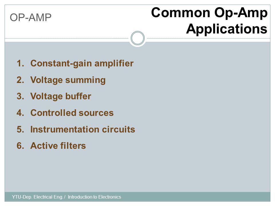 OP-AMP Constant Gain Amplifier YTU-Dep.Electrical Eng.