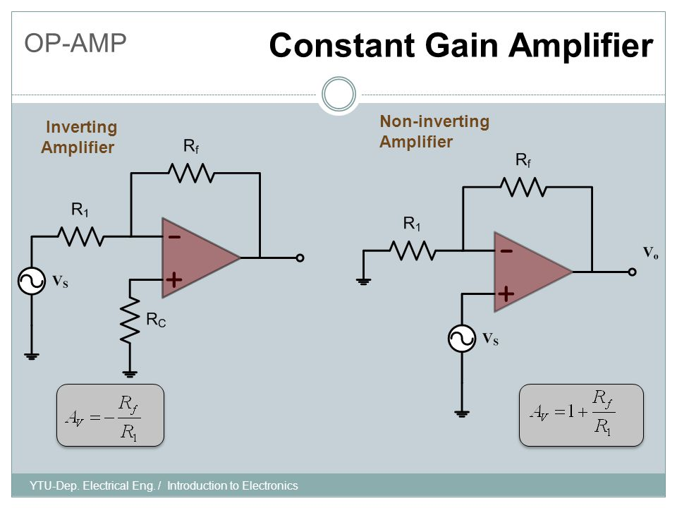 YTU-Dep. Electrical Eng. / Introduction to Electronics OP-AMP Question-2