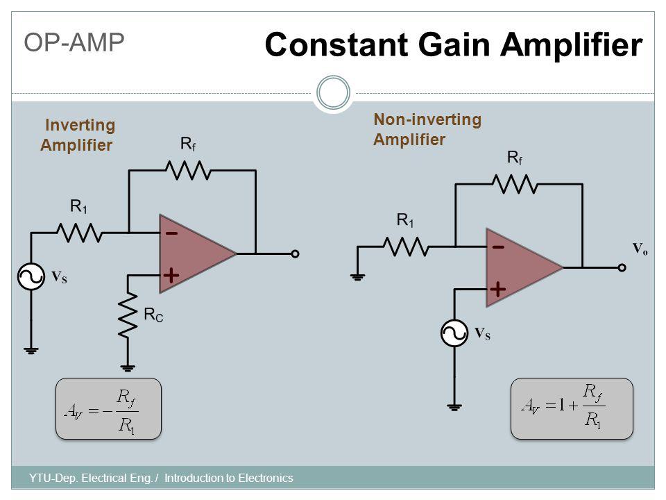 OP-AMP Constant Gain Amplifier YTU-Dep. Electrical Eng.