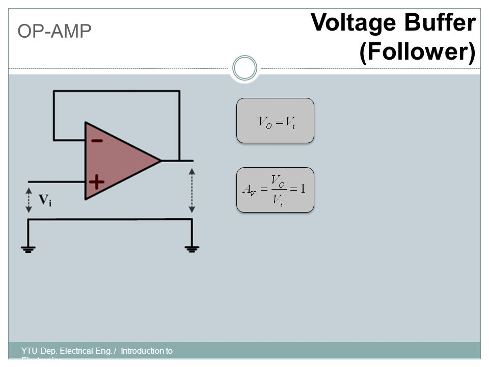 OP-AMP Current-Controlled Current Source YTU-Dep. Electrical Eng. / Introduction to Electronics