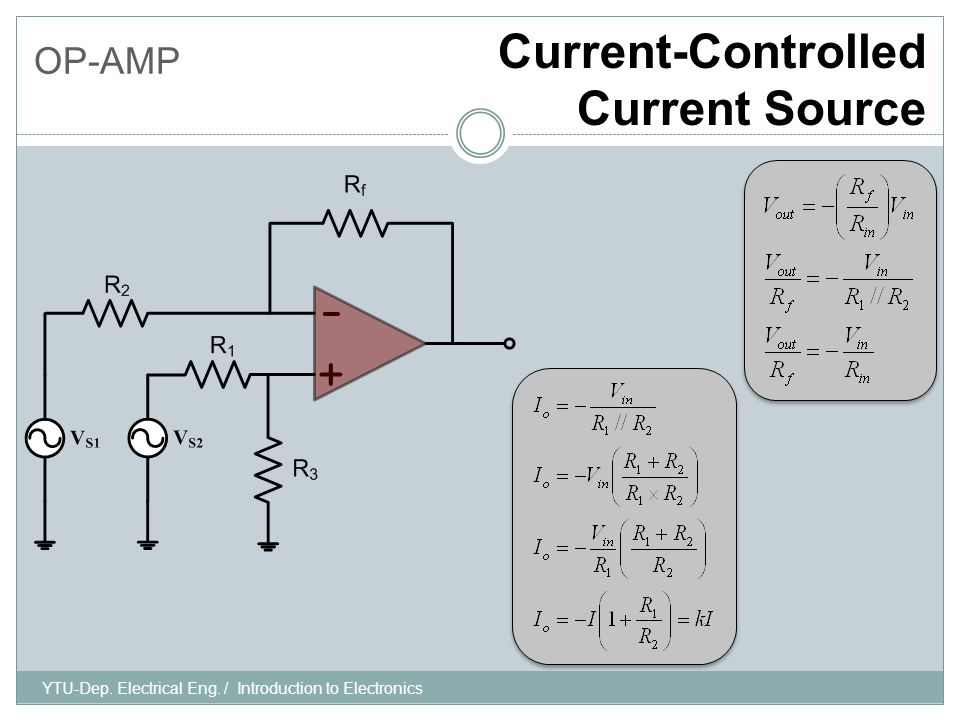 OP-AMP Low-Pass Filter, First-Order YTU-Dep.Electrical Eng.