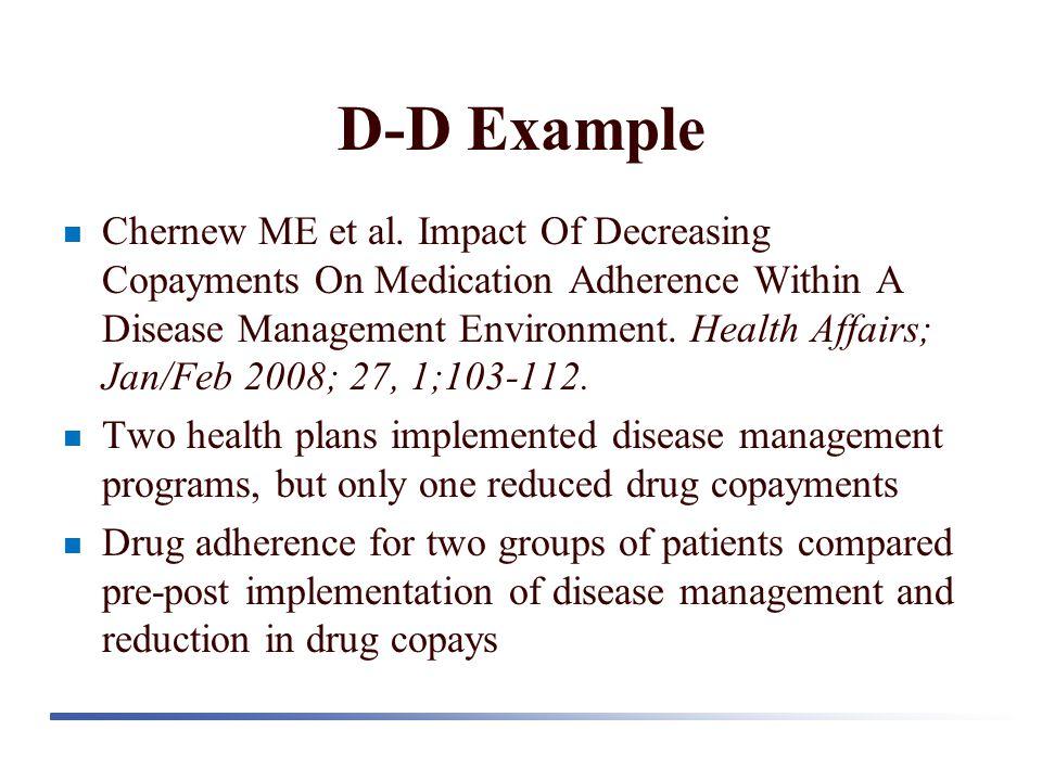D-D Example Chernew ME et al.