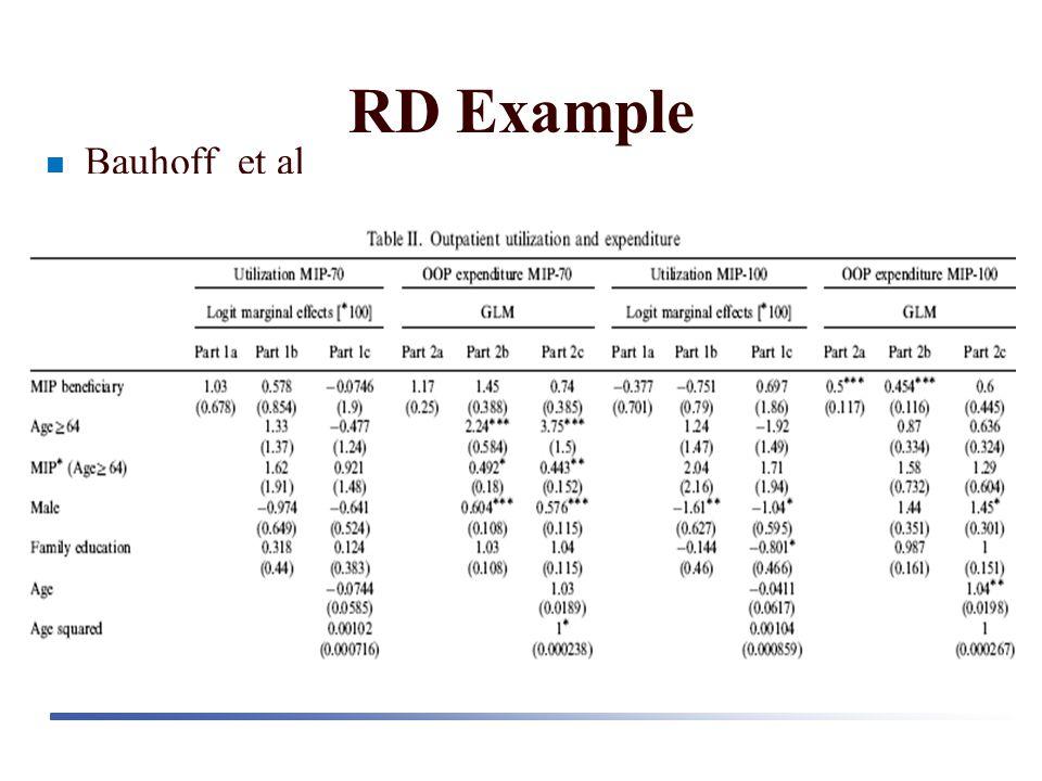 RD Example Bauhoff et al