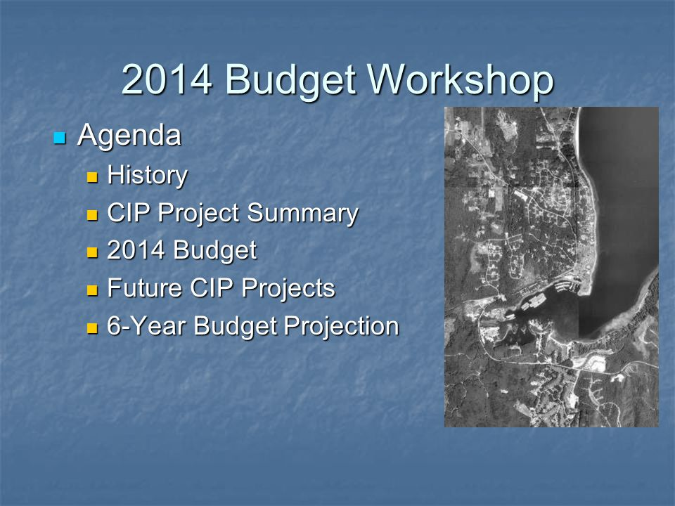 2014 Budget Workshop History History Petition 1999 Petition 1999 Vote and formation 2000 Vote and formation 2000 Assessment Methodology 2001 Assessment Methodology 2001 First Assessment 2002 First Assessment 2002 Comprehensive Plan 2003 Comprehensive Plan 2003 Projects Started in 2003 Projects Started in 2003 Projects Continue through 2014 Projects Continue through 2014