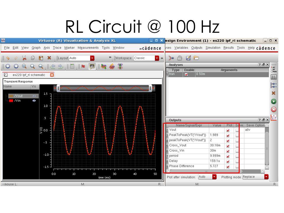 RL Circuit @ 1000 Hz