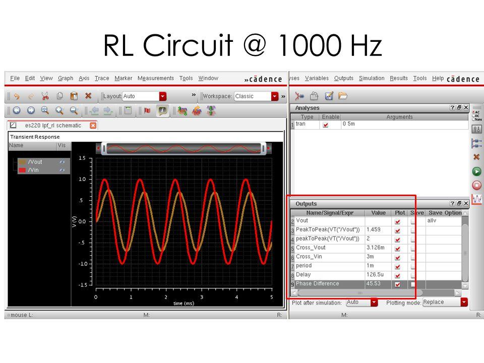 RL Circuit @ 10,000 Hz