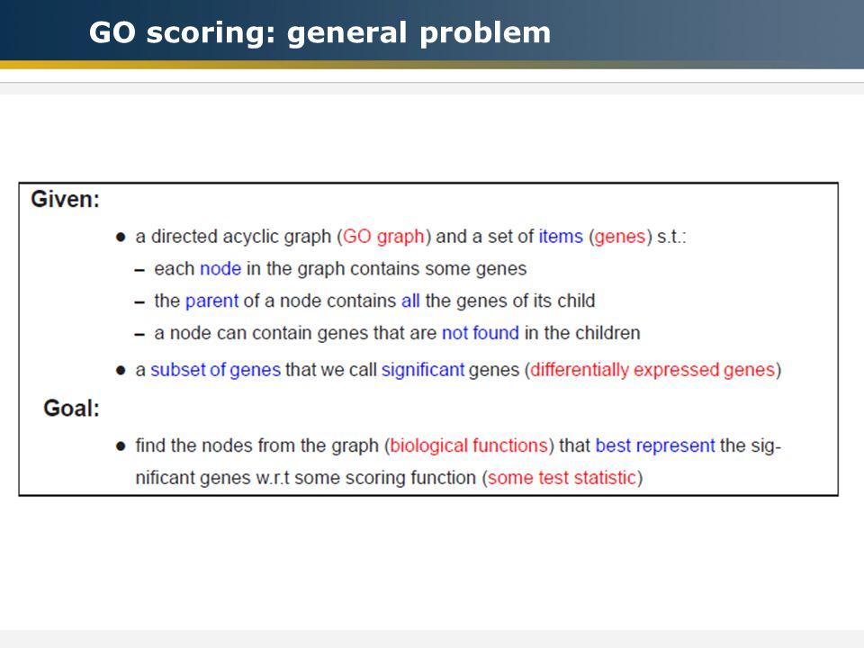 GO scoring: general problem