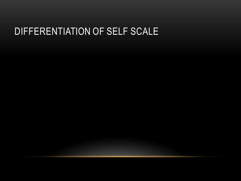 DIFFERENTIATION OF SELF SCALE