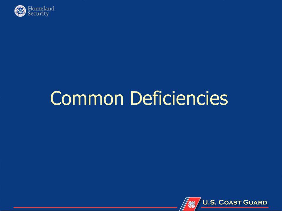 Common Deficiencies
