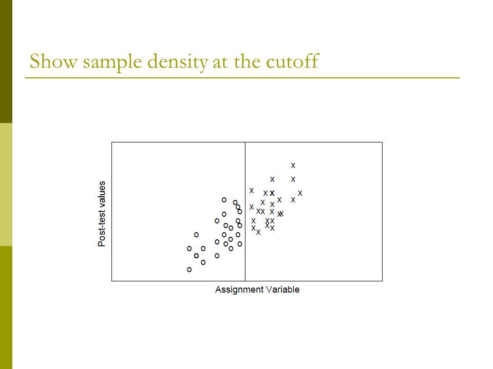 Show sample density at the cutoff