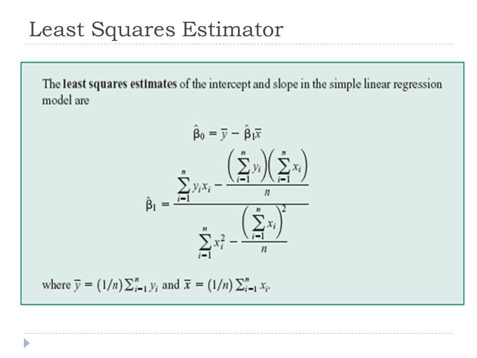 Least Squares Estimator