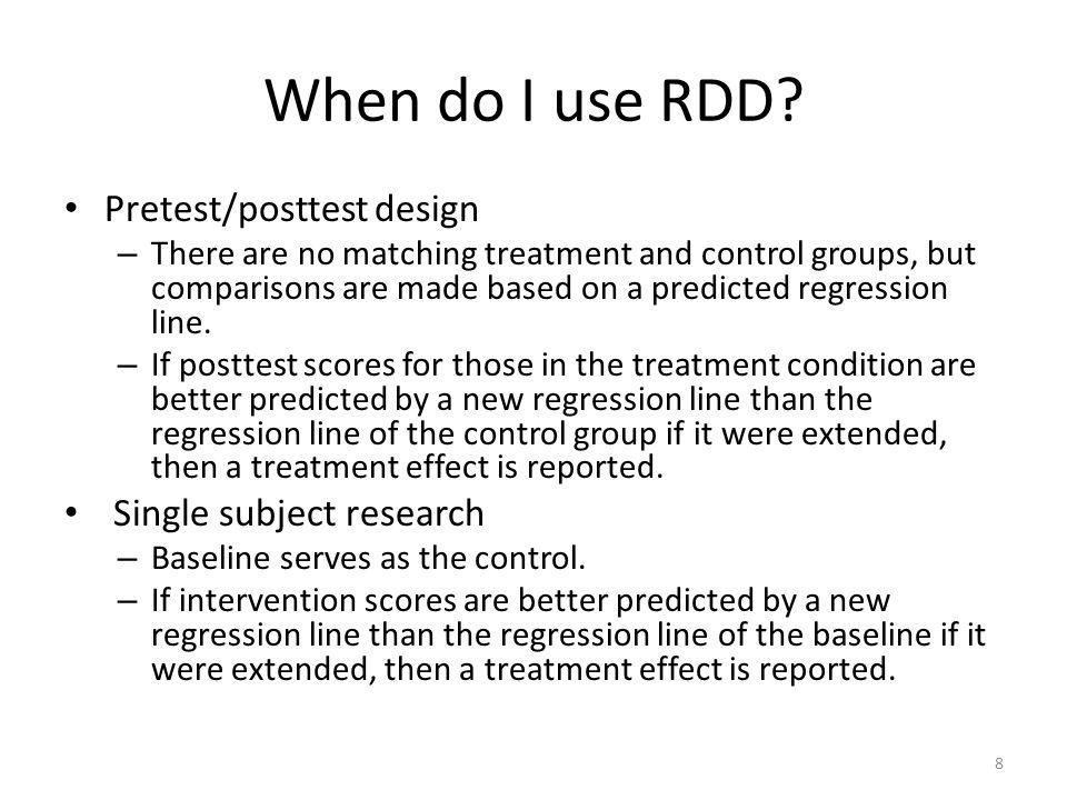 When do I use RDD.
