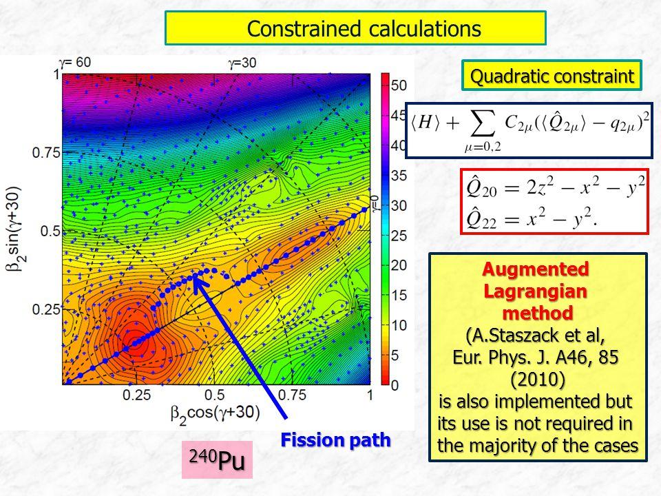 Constrained calculations Constrained calculations AugmentedLagrangianmethod (A.Staszack et al, Eur. Phys. J. A46, 85 (2010) is also implemented but it