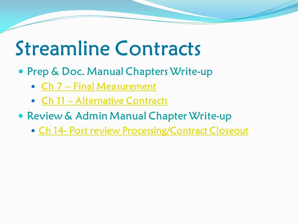 Streamline Contracts Prep & Doc.