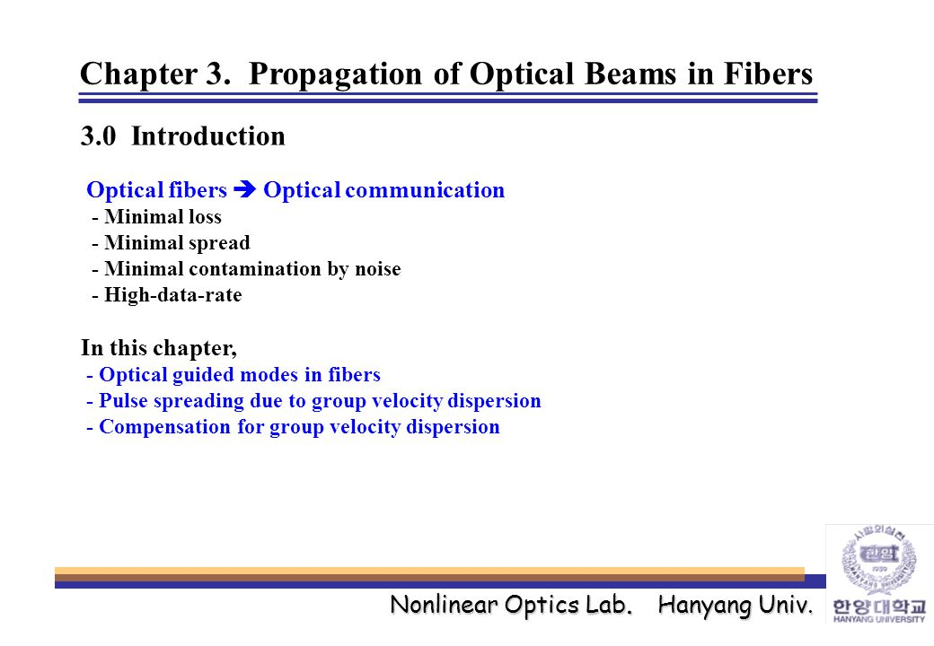 Nonlinear Optics Lab. Hanyang Univ. Chapter 3.