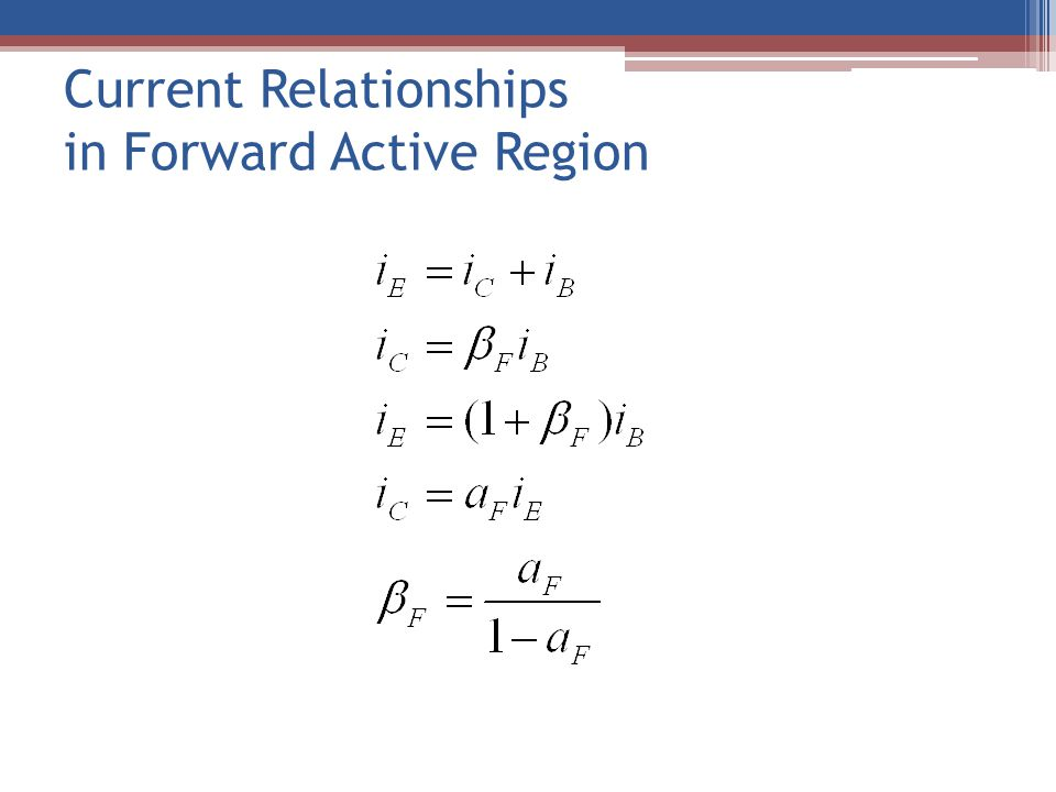 Current Relationships in Forward Active Region