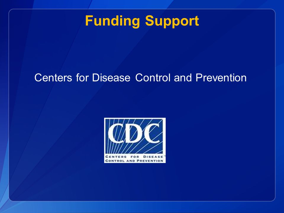 Funding Support Centers for Disease Control and Prevention