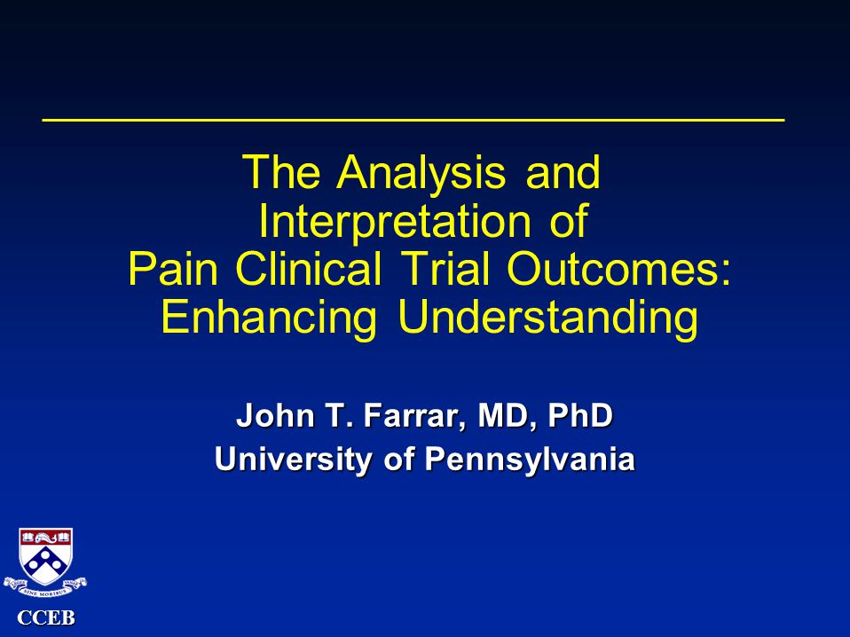 CCEB Receiver Operator Response Curve Percentage Pain Intensity Difference