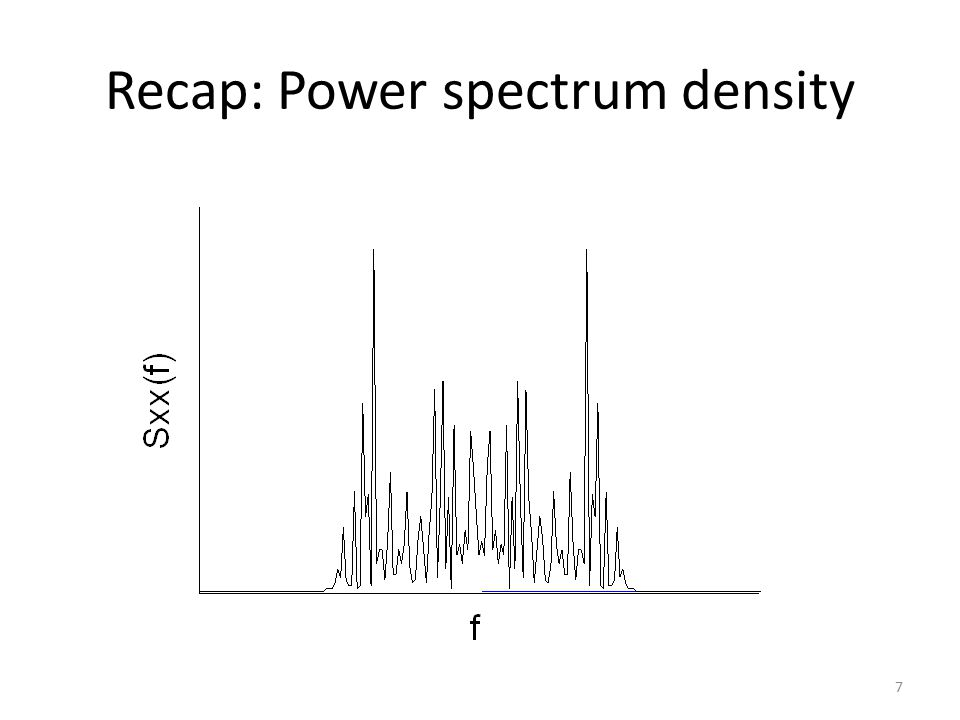 Recap: Power spectrum density 7
