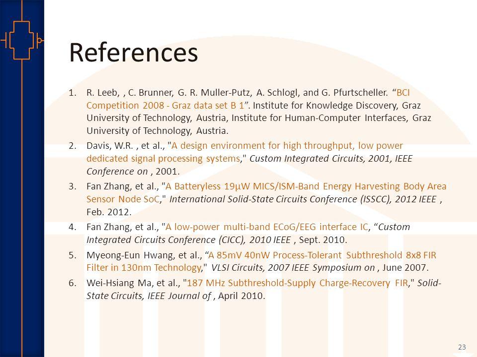 Robust Low Power VLSI References 1.R. Leeb,, C. Brunner, G.