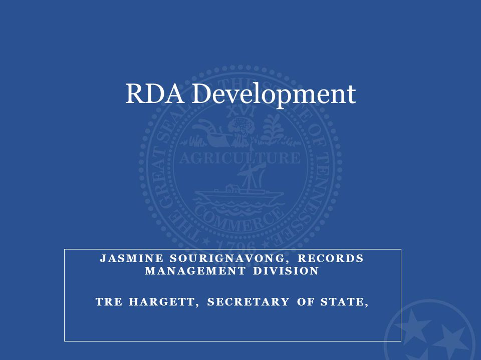 Records Disposition Authorizations Records schedules are implemented through the establishment of Records Disposition Authorizations (RDA) which provide the following information: Description of records grouped by common function or record series.