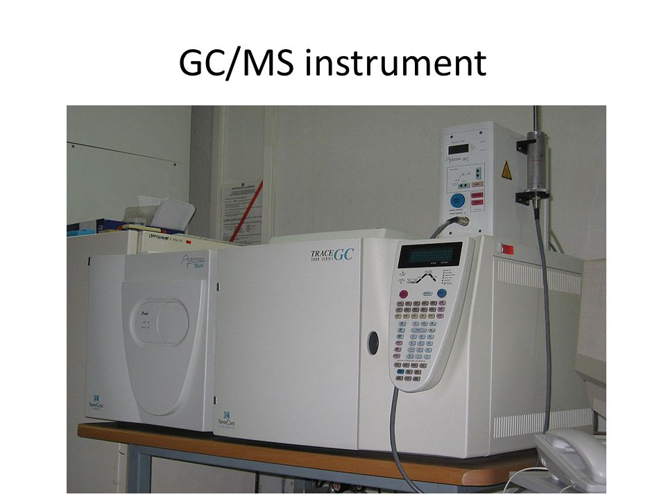 GC/MS instrument