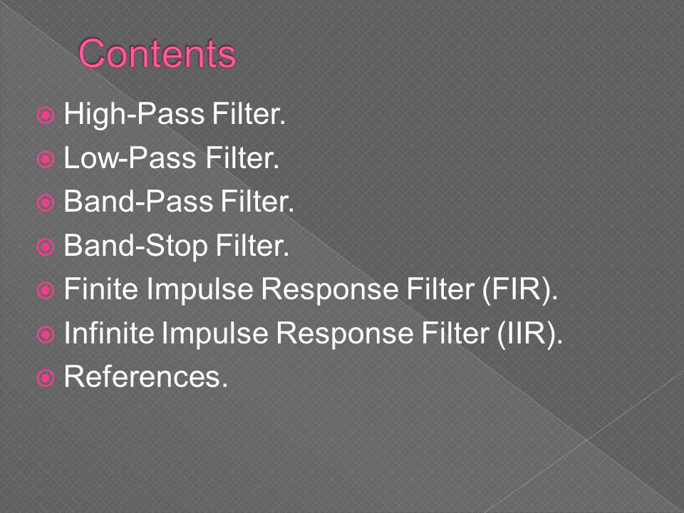 An FIR filter has a number of useful properties:  Require no feedback.