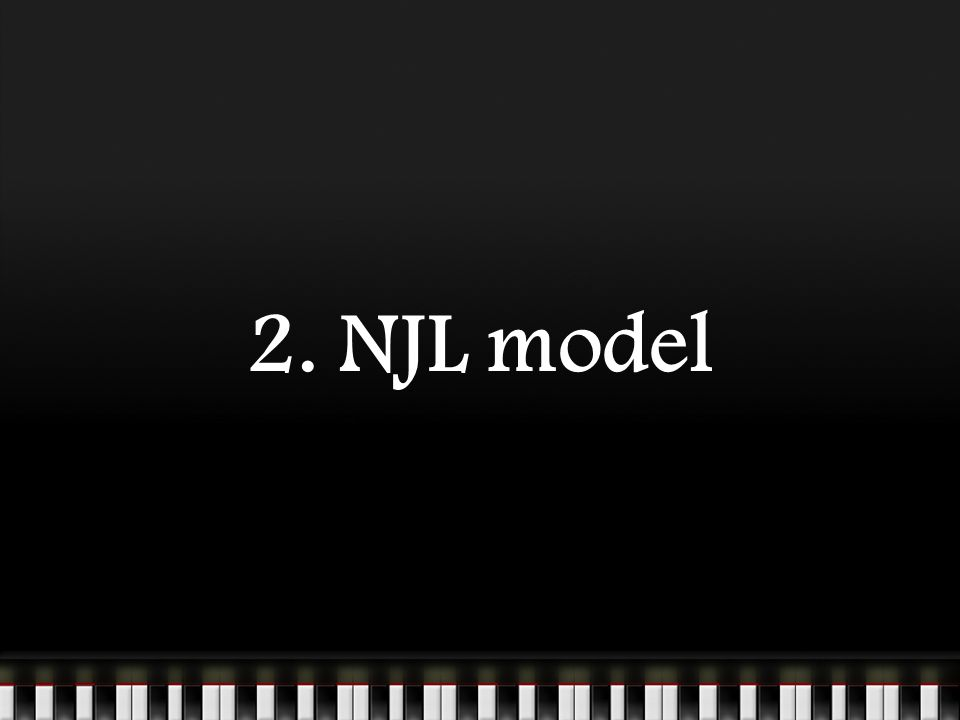 2. NJL model
