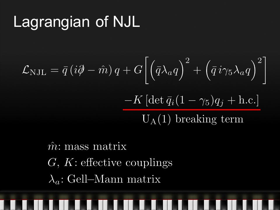 Lagrangian of NJL
