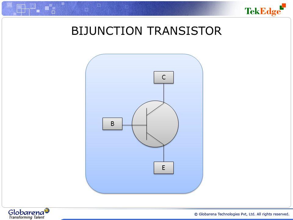 B B C C E E BIJUNCTION TRANSISTOR