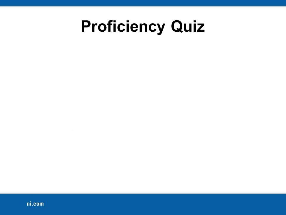 Proficiency Quiz