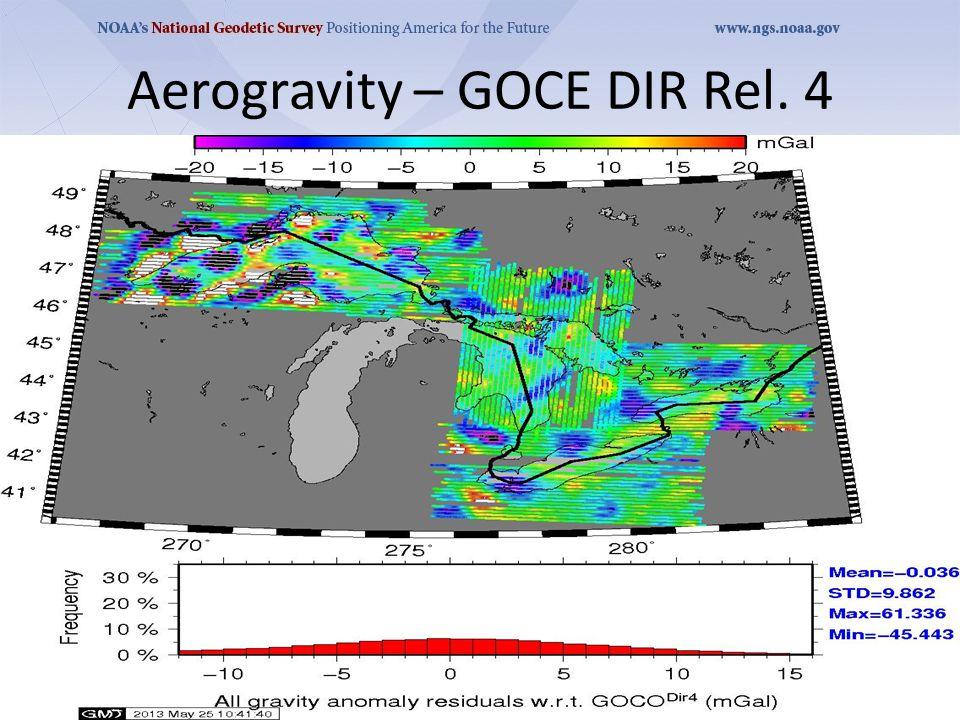 Aerogravity – GOCE DIR Rel. 4