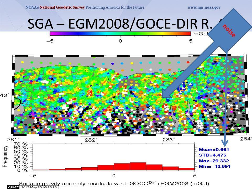 SGA – EGM2008/GOCE-DIR R. 4 noise