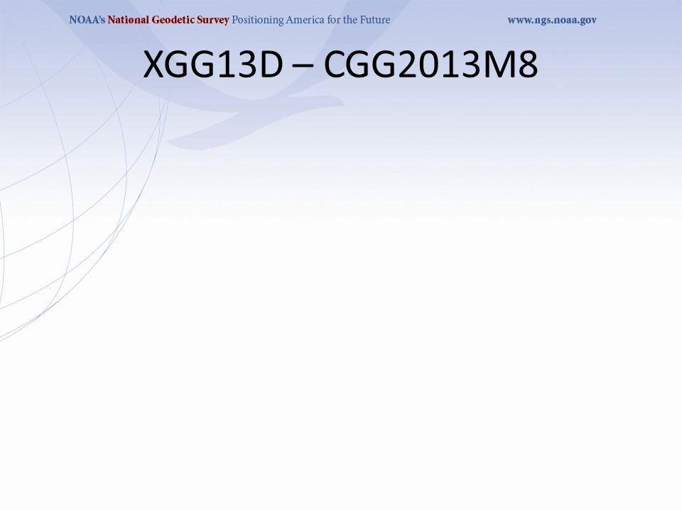XGG13D – CGG2013M8