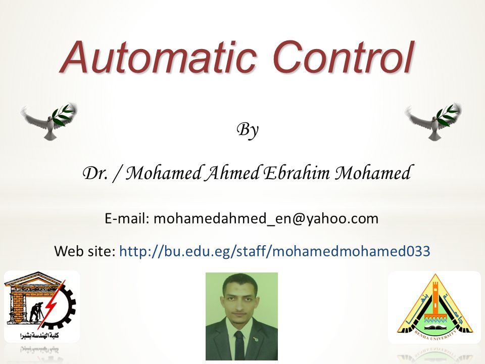 Automatic Control By Dr.