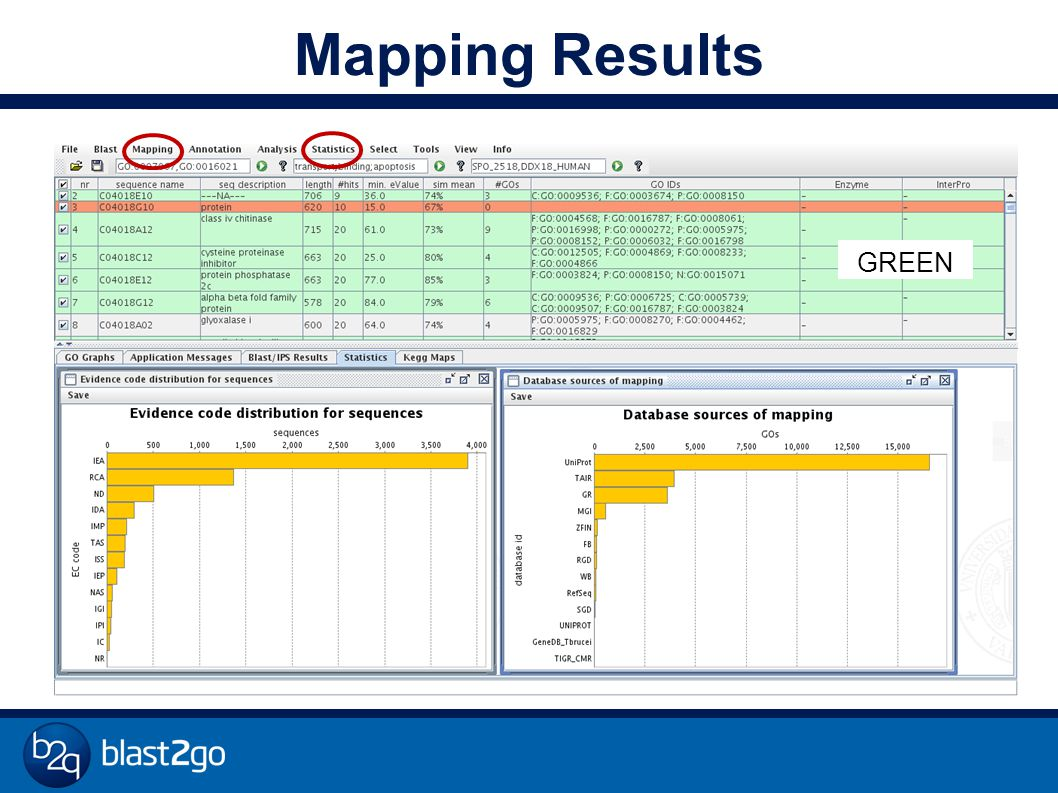 Mapping Results GREEN